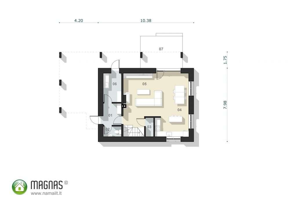 Magnas – Pirmo aukšto planas